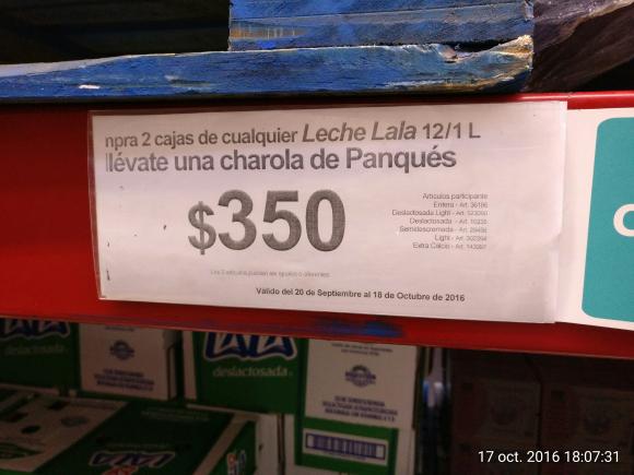 Sam's Club Poza Rica: Gratis un panque en la compra de 2 cajas de leche Lara, ventilador de torre Lasko a $999