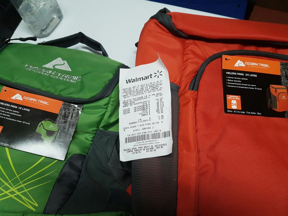Walmart Avila Camacho Jalisco: Hieleras  para 18, 24 y 50 latas desde $38.01