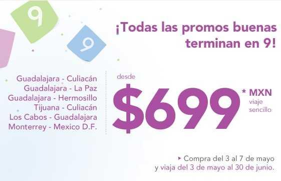 Volaris: DF-Monterrey y rutas de Guadalajara desde $699 sencillo