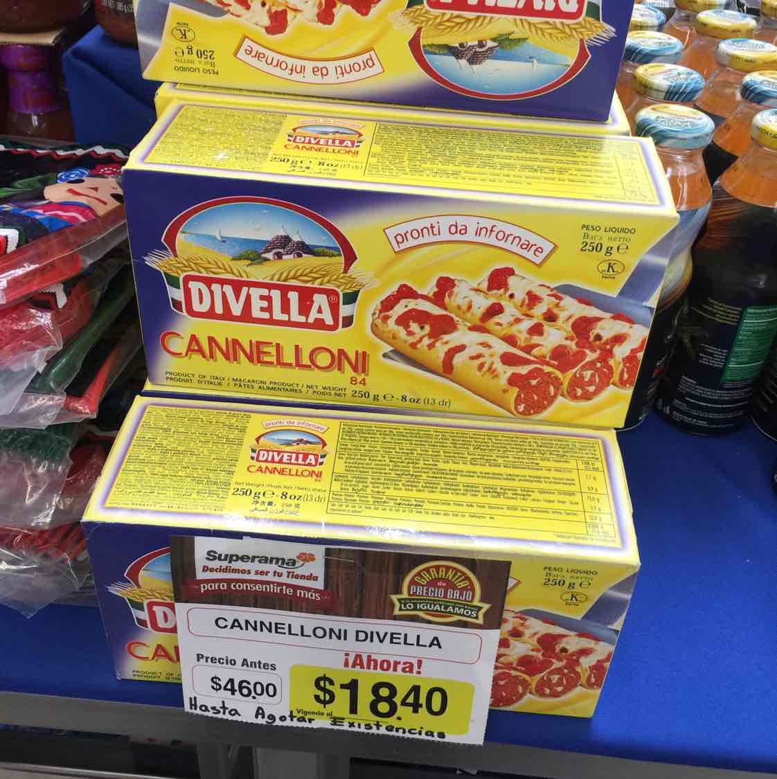 Superama Tlalpan y periférico: Cannelloni Divella a $18.40