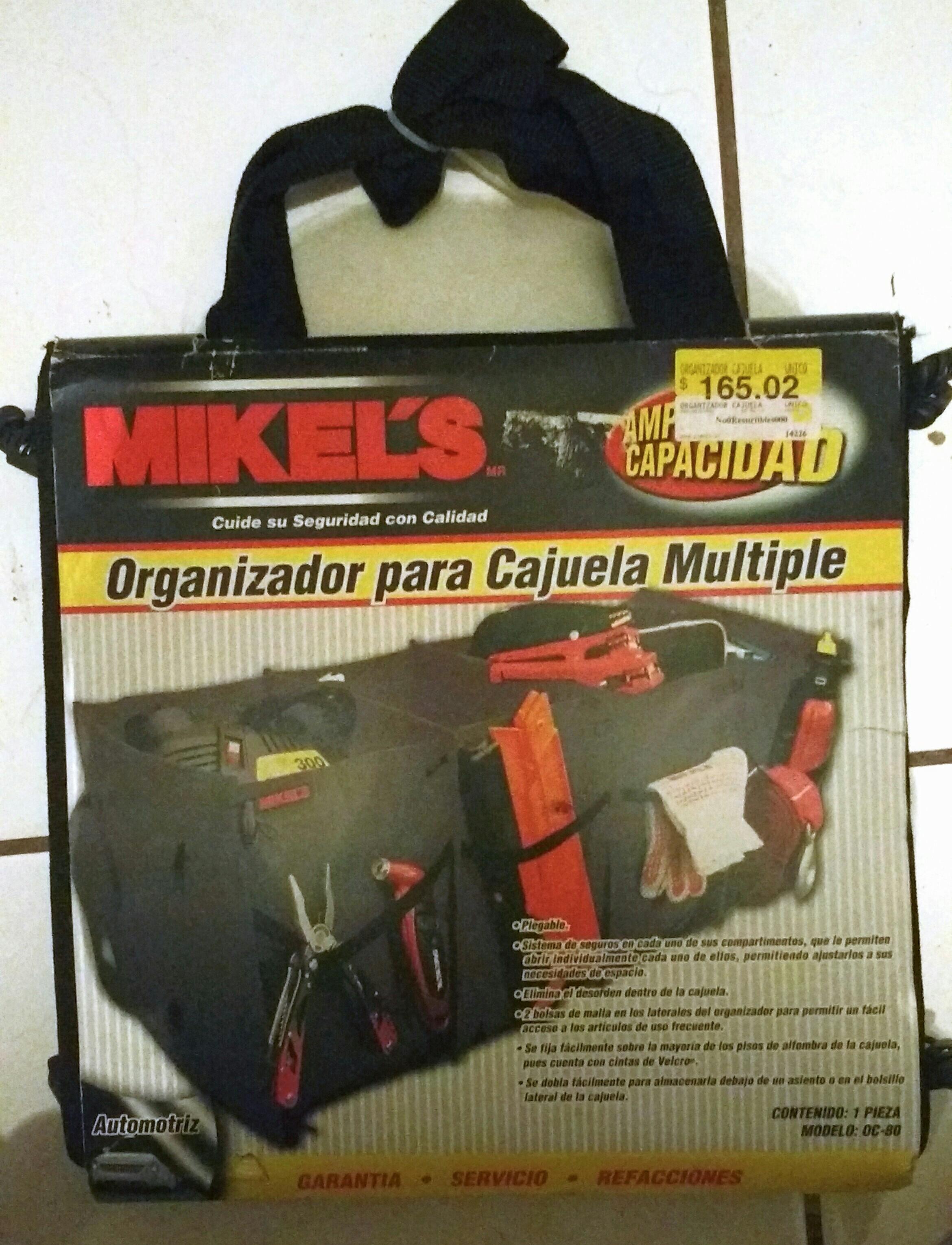 Walmart Macroplaza Oaxaca: Organizador para cajuela Mikel's a $50.01