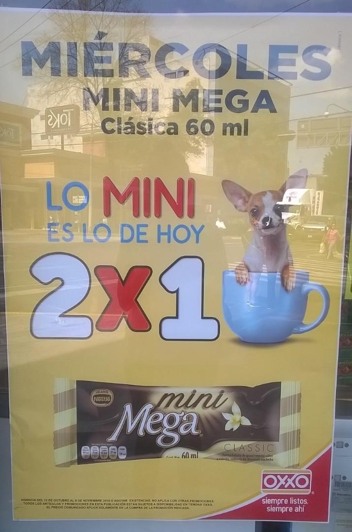 Oxxo: Mini Mega Clásica 2x1 los Miércoles hasta el 9 de Noviembre
