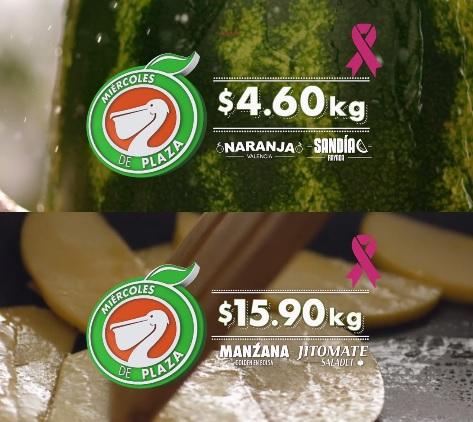 La Comer y Fresko: Miércoles de Plaza 19 Octubre: Naranja o Sandía $4.60 kg; Manzana o Jitomate $15.90 kg.