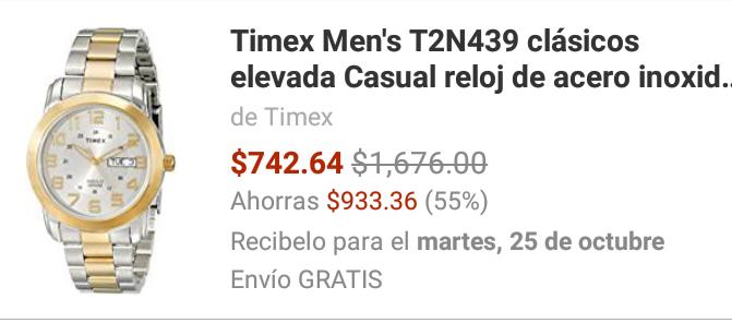 Amazon: Reloj Timex para Dama $743