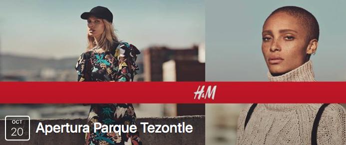 H&M Parque Tezontle CDMX: Por apertura gift card de $300 a los primeros 500 el Jueves 20