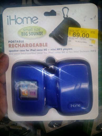 Walmart: bocinas portátiles iHome en $30.01