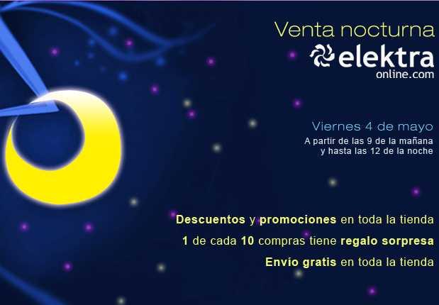 Venta Nocturna de Elektra Online el 4 de mayo