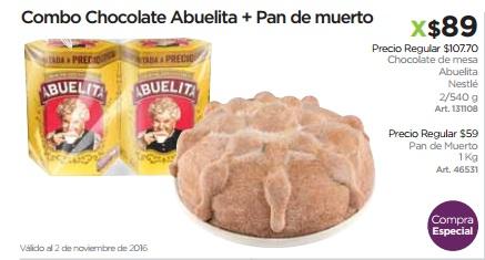 Sam's Club: 2 Choco Abuelita+Pan muerto 1Kg $89 (Por separado $166.70)
