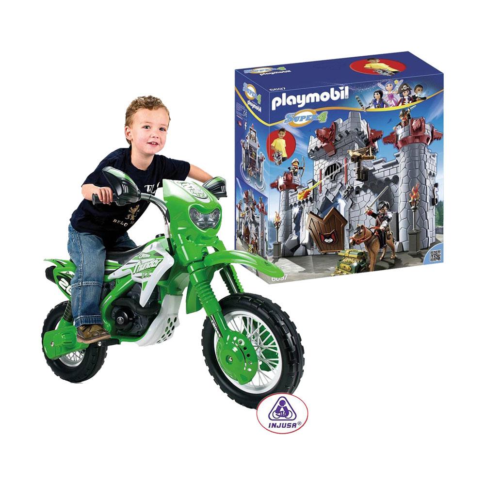 Walmart en línea: Paquete moto Cross Thunder VX 6V y castillo Playmobil