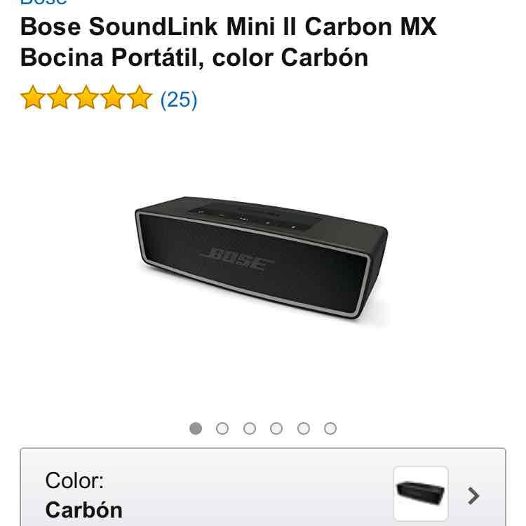Amazon: Bose SoundLink Mini II Carbon MX Bocina Portátil