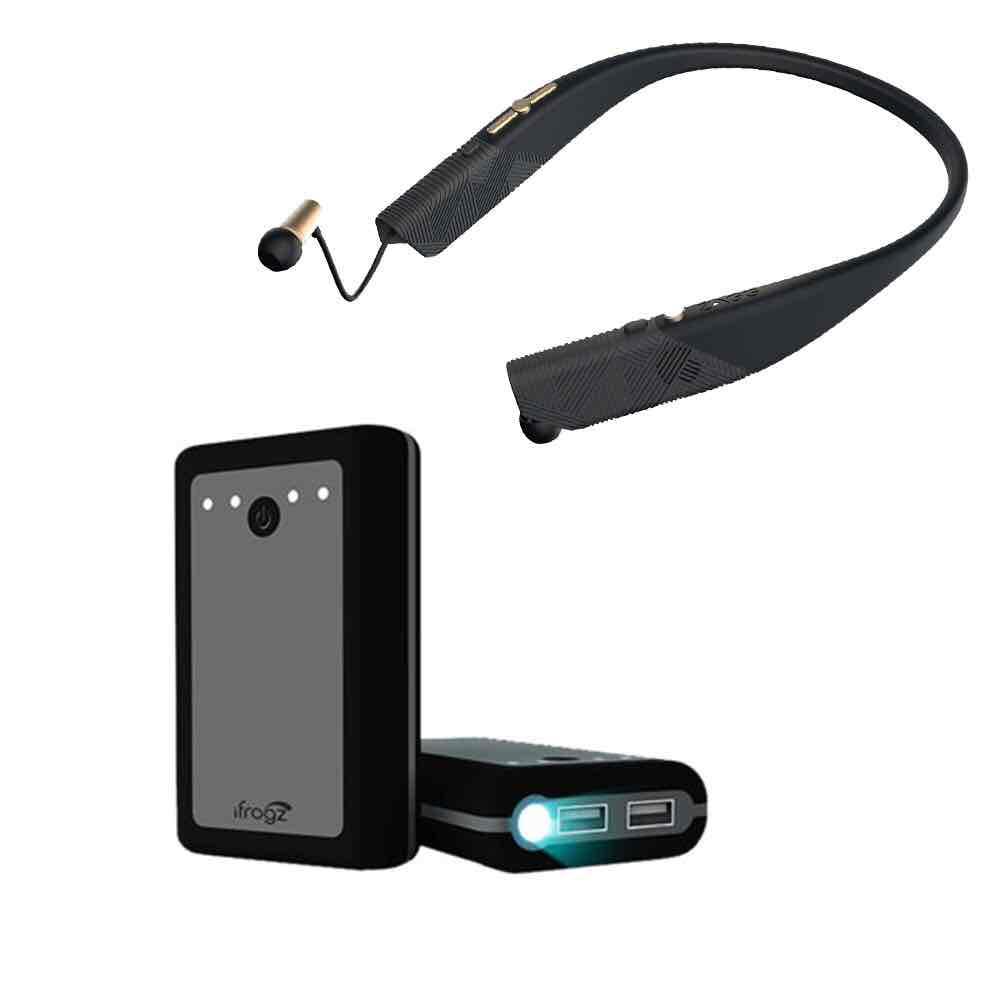 Walmart en línea: Audífonos Bluetooth y batería de respaldo