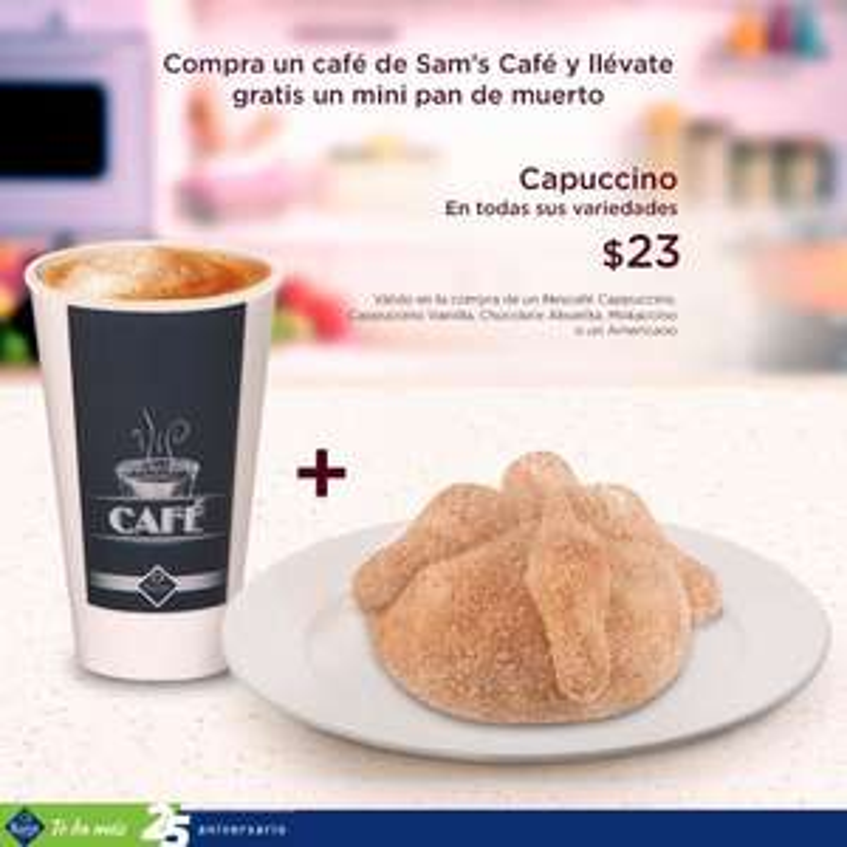 Sam's Club: mini pan de muerto GRATIS, en la compra de tu café