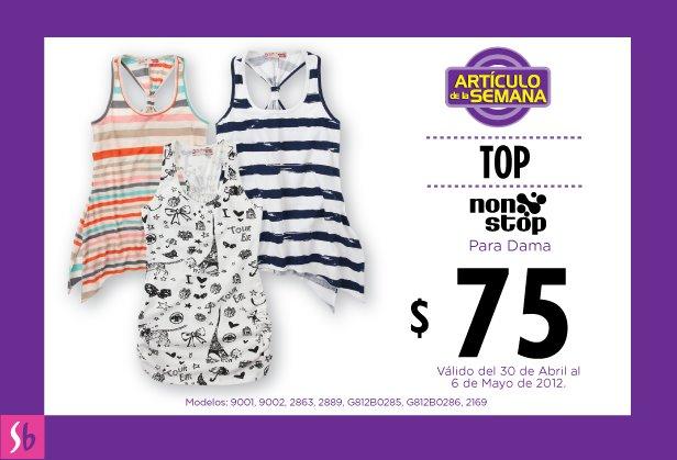 Artículo de la semana en Suburbia: top para dama a $75