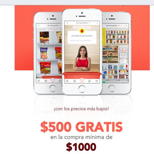 Rappi: Cupón de $500 de descuento en compras mínimas de $1,000