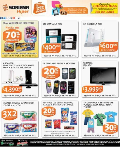 Soriana: 3x2 en pañales Huggies, 20% en monedero en celulares Telcel y Movistar, y más