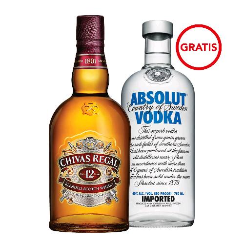 Bodegas Alianza en línea: whisky Chivas más vodka Absolut
