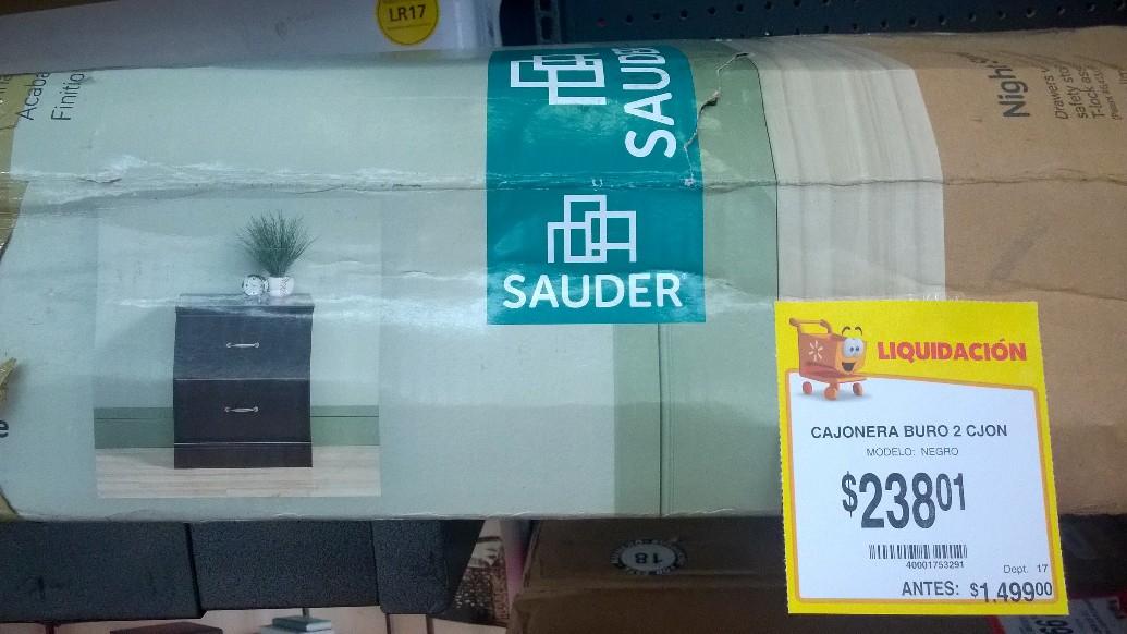 Walmart Mérida: Cajonera de madera 2 cajones a $238.01