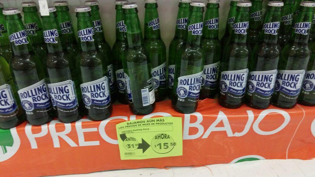 Mega Cuernavaca: Cerveza importada Extra Pale Rolling Rock a mitad de precio