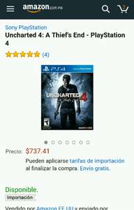 Amazon: Uncharted 4 A Thief's End - PlayStation 4