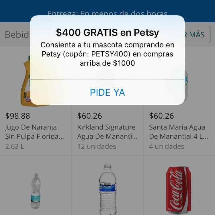Mercadoni: Petsy $400 de descuento en compras de $1,000