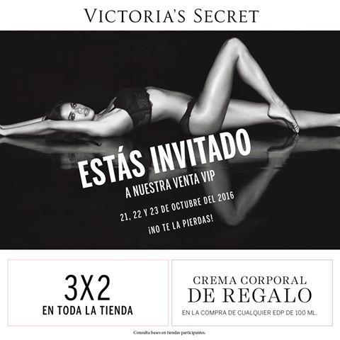 Victoria's Secrets Toreo CDMX: Venta Vip 3x2 en Toda la Tienda y crema de regalo