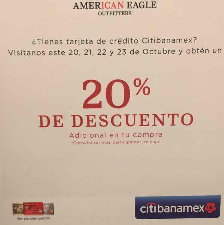 American Eagle: -20% Con Citibanamex