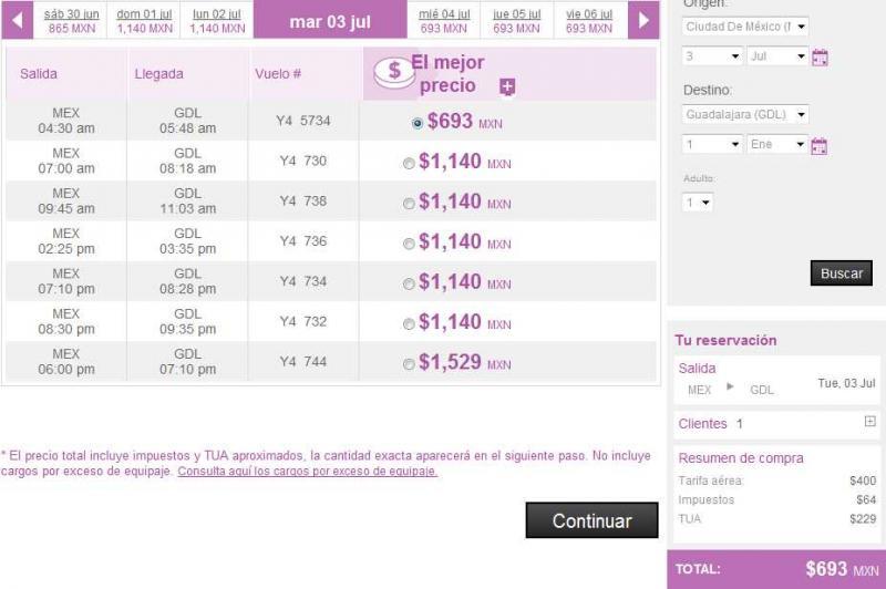 Volaris: oferta en vuelos del DF hacia Guadalajara y Cancún