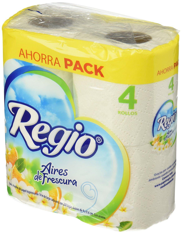 Amazon: [comodines para completar envío gratis] Papel Higiénico Regio Aires de Frescura, Paquete con 4 rollos a $10.52, Luxury a $20.16 o Pétalo Ultra resistente a $14.01 y más