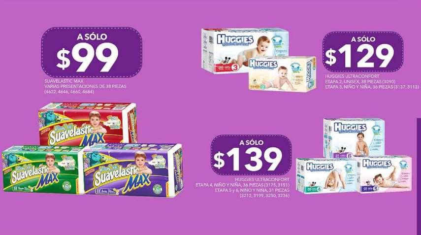 Farmacias del Ahorro: pañales Suavelastic Max $99, Huggies Ultraconfort desde $129