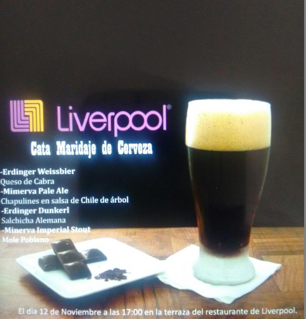 Liverpool: cata maridaje de cervezas