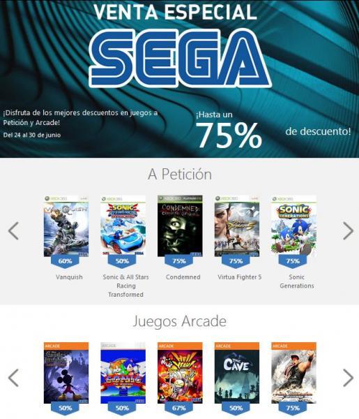 Xbox Live: hasta 75% de descuento en juegos de SEGA y LEGO