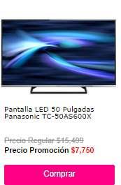 """Ofertas de Hot Sale México 2014 en Liverpool: LED Smart TV Panasonic de 50"""": $7,750"""