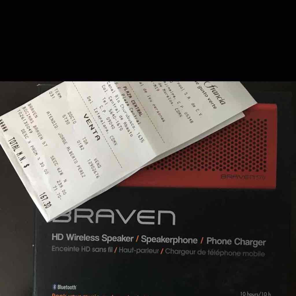 Fabricas de Francia Plaza Central CDMX: Bocina Braven 570 Bluetooth