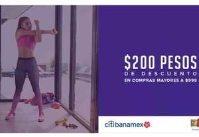 Innovasport: Cupón de $200 pesos en tienda en línea con CITIBANAMEX + Envió gratis + MSI