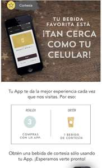 Starbucks: Realiza 3 compras con la App para obtener bebida Gratis