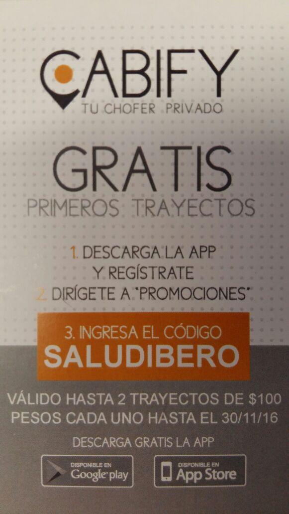 Cabify: 2 viajes de hasta $100 (usuarios nuevos en Puebla)