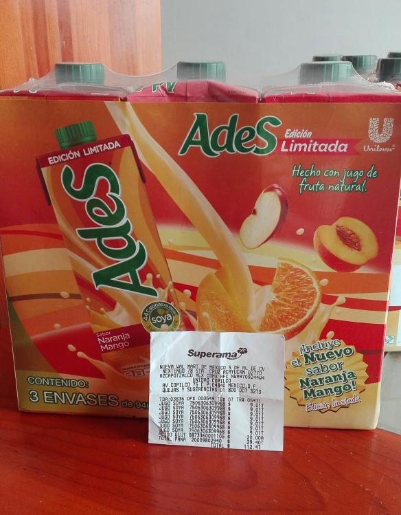 Superama Copilco: Paquete 3 jugos ADES 946 ml. a $9.01