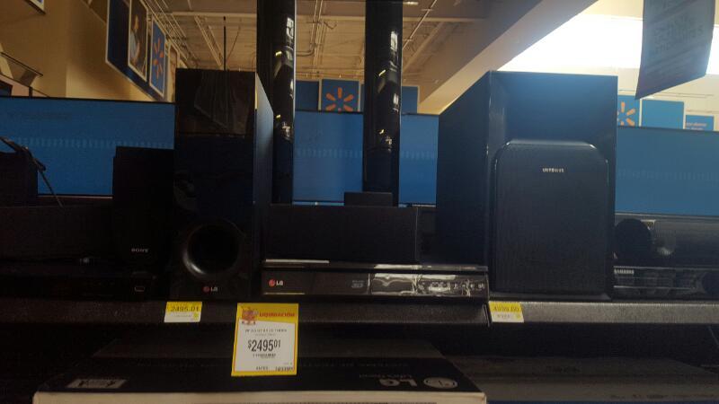 "Walmart Los Mochis: minisplit 1.5ton 220VF a $5,895.03, pantalla LG 24"" a $1,495.01"