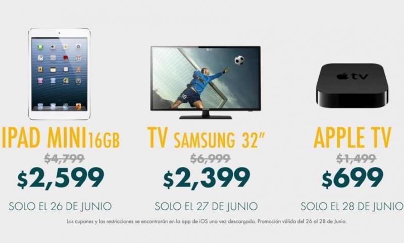 """Linio: iPad Mini 2,599, pantalla LED 32"""" $2,399 y 20% de descuento en todo la app de iOS"""