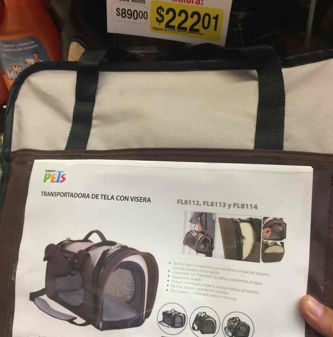 Superama Tlalpan: Transportador de mascota a $222.01