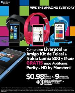 Liverpool: Audífonos Purity HD de Monster gratis al comprar Nokia Lumia 800 en Amigo Kit