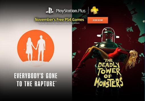 PSN Plus: Juegos Gratis Noviembre 2016
