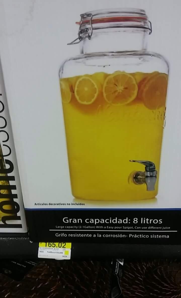 Walmart Zinacantepec: dispensador de Bebidas (vitrolero) a $165.02