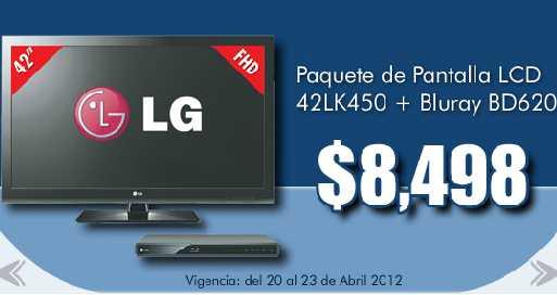"""Comercial Mexicana: pantalla LCD 42"""" y blu-ray LG a $8,498"""