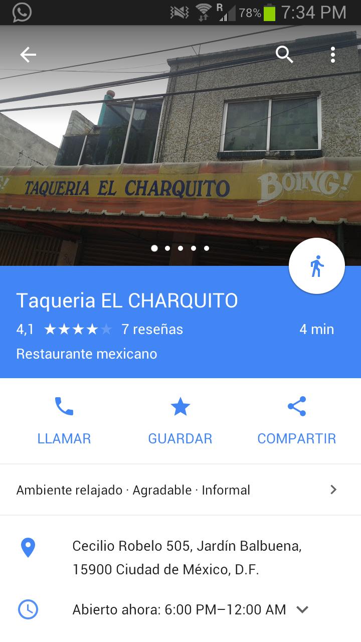 """Taquería """" El Charquito"""": Tacos al pastor a $5"""