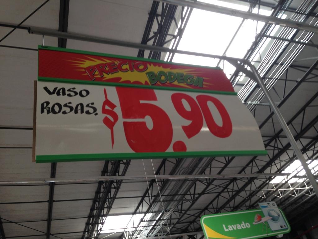 Bodega Aurrerá. Frac Las Américas Mérida, Yucatán: Vaso de vidrio y ofertas varias de papelería