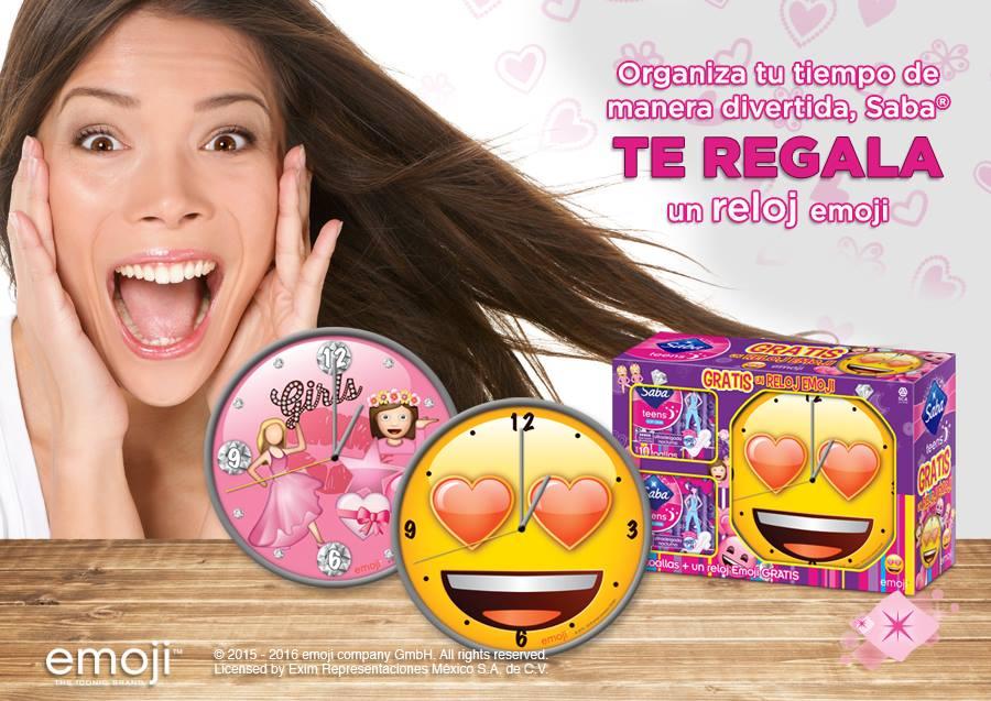 Saba: Reloj Emoji GRATIS en la compra de TwinPack Teens Nocturna