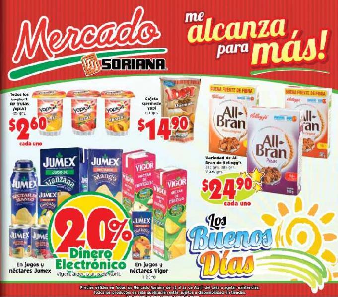 Folleto Mercado Soriana: 3x2 en ropa interior para niñas, 30% de descuento en Baby Mink y más