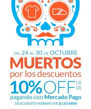 Mercado Pago: 10% Descuento pagando con Mercado Pago del 24 al 30 de octubre
