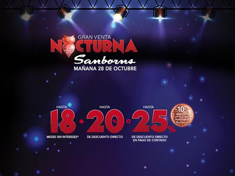 Venta Nocturna Sanborns esté 28 de octubre
